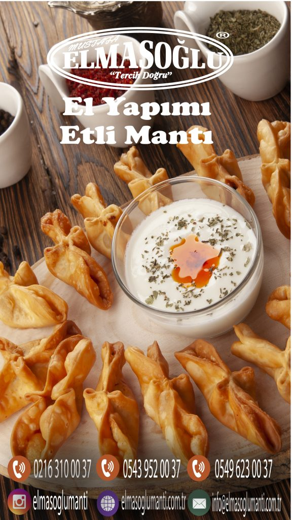 ELMASOĞLU ETLİ ÇITIR MANTI 1 El Yapımı Etli Mantı Üreticisi